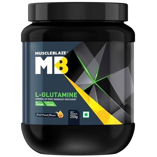 MuscleBlaze L-Glutamine,(0.25kg) 0.55 lb Fruit Punch