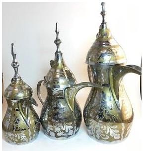 Arabic Islamic Copper Brass Dallah Coffee