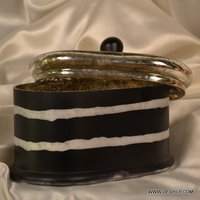 KITCHEN GLASS JAR WITH GLASS LID