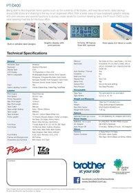 Brother PT-D400 Label Printer