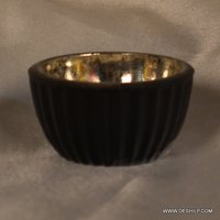 SILVER GLASS ANTIQUE BOWL FOR KITCHEN WARE
