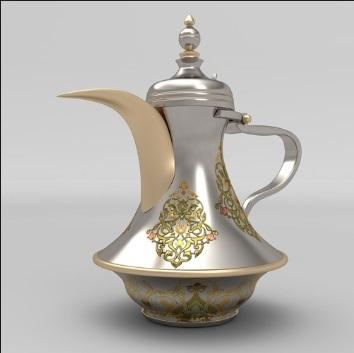Brass Dallah Tea Pot