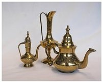 Coffee & Tea Dallah Brass Set