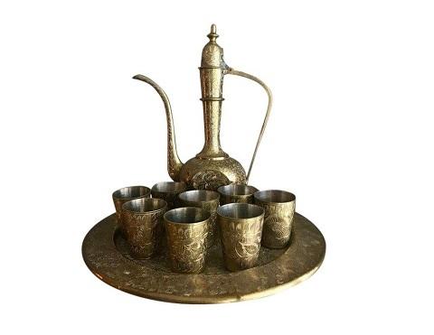 Set of 2 Brass Antique Dallah