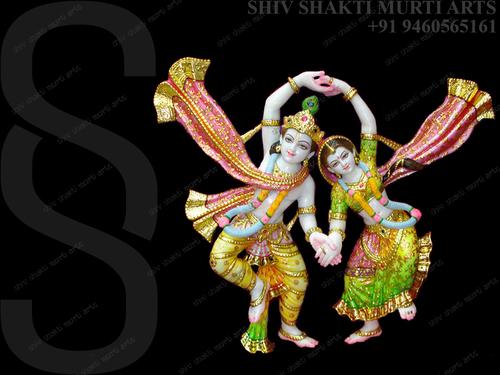 Dancing Radha Krishna Murti ( Statue )