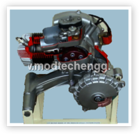 CUT-SECTION MODEL OF SINGLE CYLINDER PETROL ENGINE (TWO STROKE)