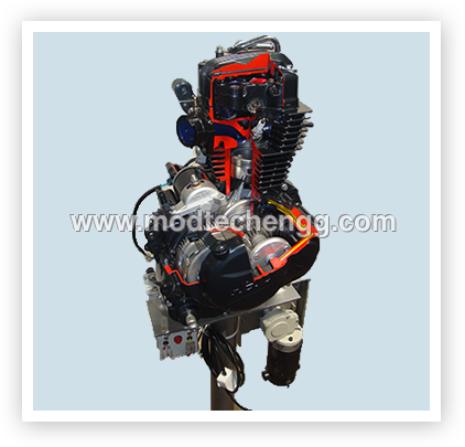CUT-SECTION MODEL OF SINGLE CYLINDER PETROL ENGINE (FOUR STROKE)