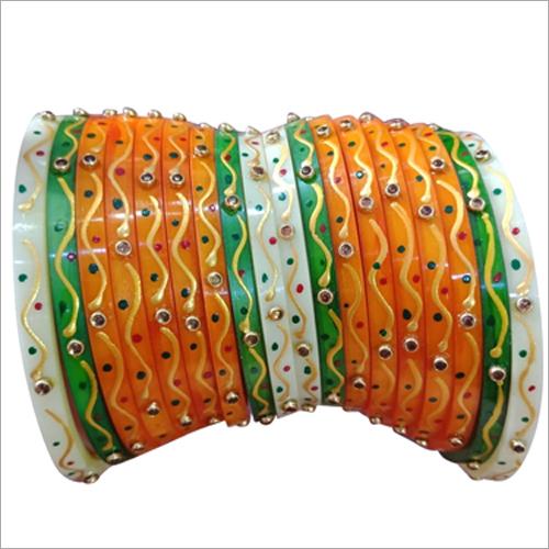 Mirror Stone Studded Plastic Bangle
