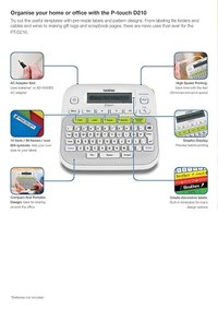 Brother P-Touch PT-D210 Label Printer