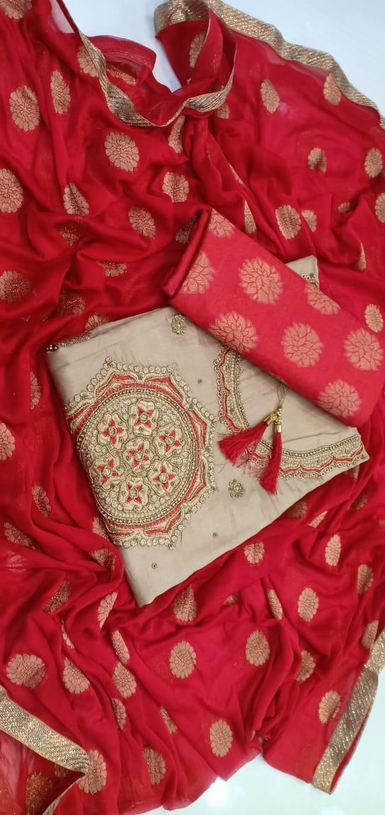 Ladies Unstitched Cotton Dress Material