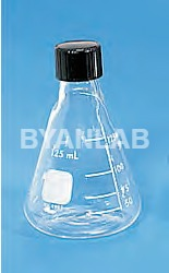 Conical Flask with PTFE Screw Cap