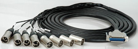 DB25 25-Pin D-Sub Male to 8 XLR Male Cable