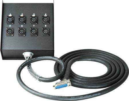 DB25 25-Pin D Sub Male to 8 XLR