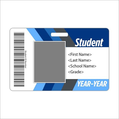 Plastic Barcode ID Card