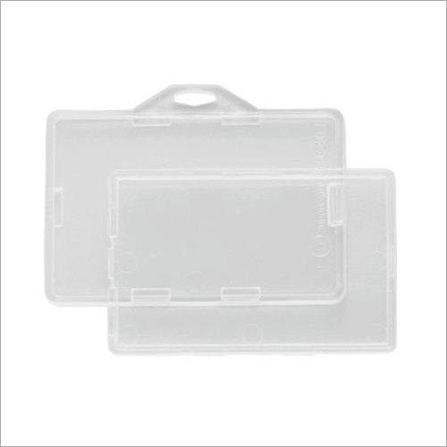 Rigid Plastic Card Holder