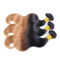 Blonde Black Ombre Body Wave Weave