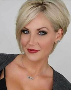 Blonde Short Layered Hair