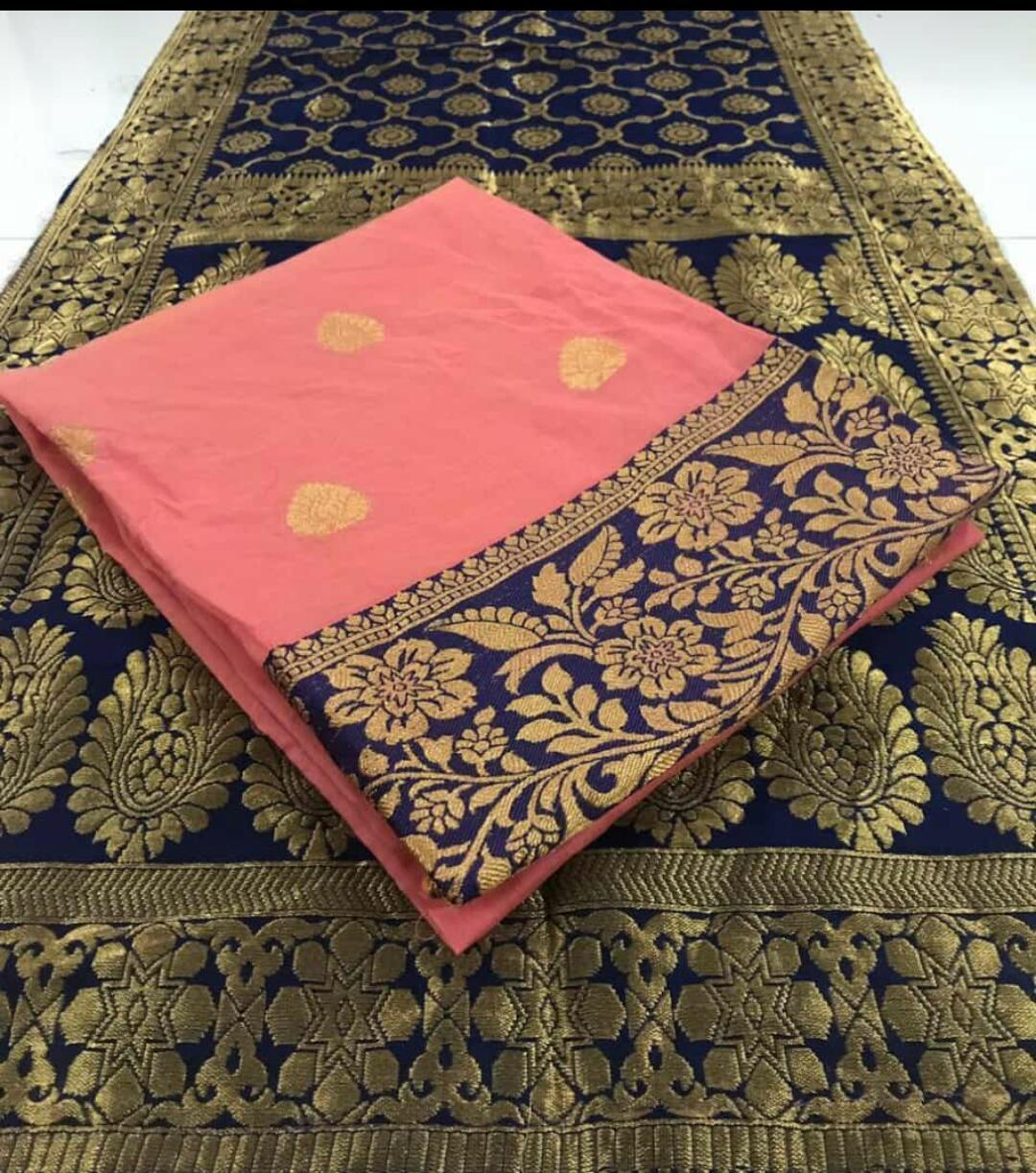 Exclusive Designer Cotton Silk Dress Material