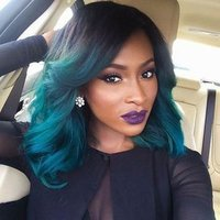 Blue Turquoise Ombre Wig