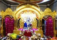 Gold Mounting on Temple God Sinhasan