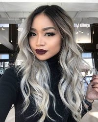 Brown Gray Balayage Wig
