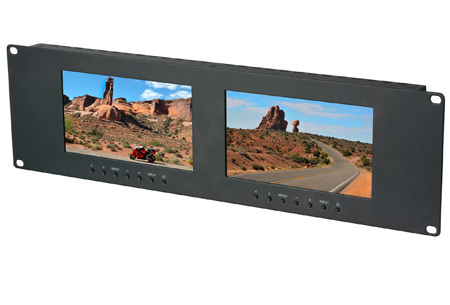 Delvcam Dual 7 Inch 3RU VGA & DVI & Composite LCD