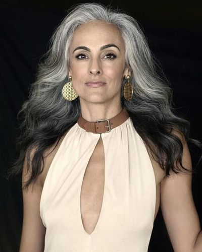 Gray Silver Ombre Loose Wave Wig