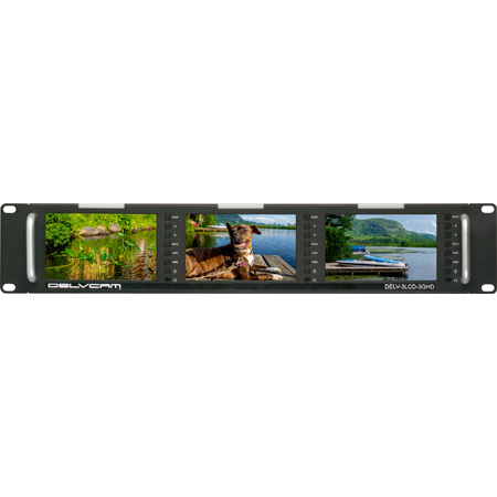 Delvcam DELV-3LCD-3GHD 5-Inch Triple Rackmount