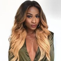 Light and Dark Blonde Ombre Wave Weave