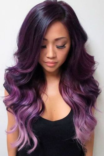 Purple Body Wave Wig