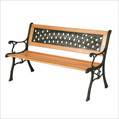 Cast Iron Garden Bench No Assembly Required