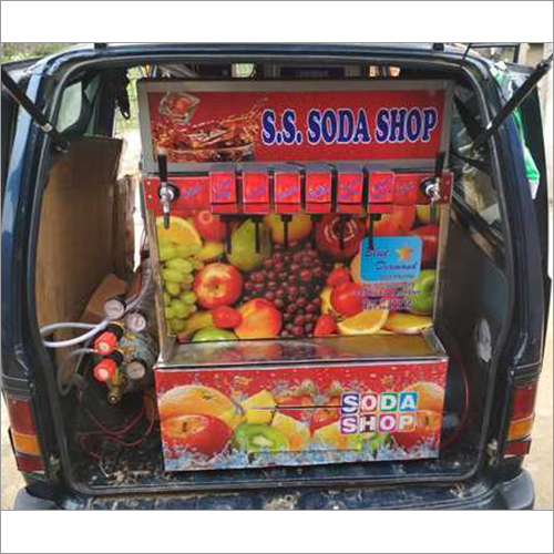 8 Flavor Van Model Soda Dispenser Machine