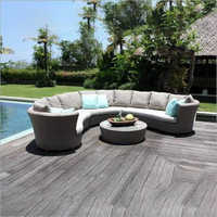 Cane Wicker Outdoor Sofa