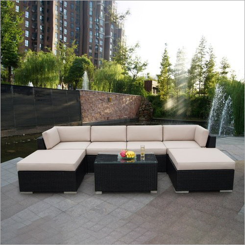 Cane Garden Outdoor Sofa