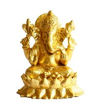 Gold Leafing On Ganeshji