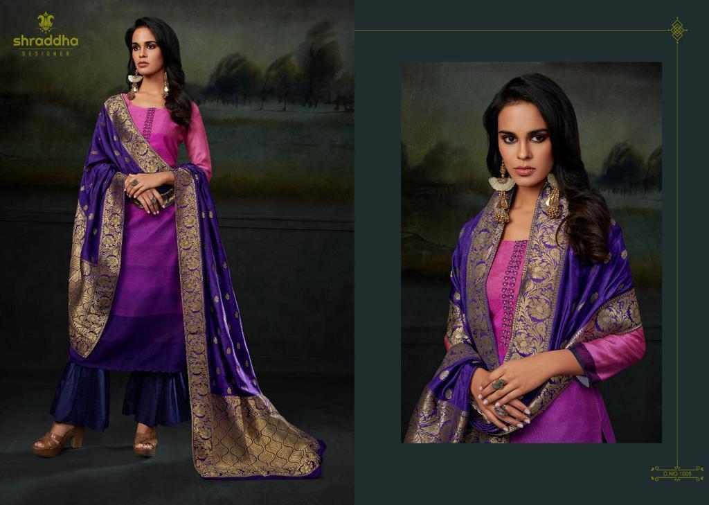 Fancy Suits With Jacquard Dupatta