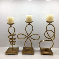 Wedding Brass Candle Holders Set