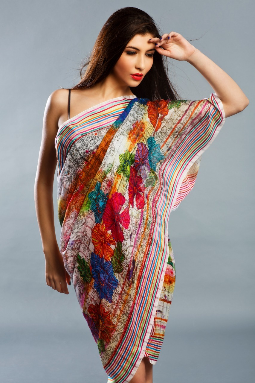 Pure Silk Digital Prints Shawls
