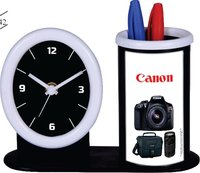 CANON TABLE CLOCK WITH PEN STAND