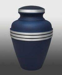 Blue Memorial Urn