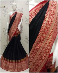 Beautiful Embroidery Cotton Silk Saree (Aura Aangi Mayura)