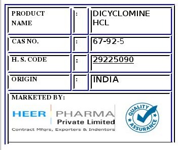 Dicyclomine hcl