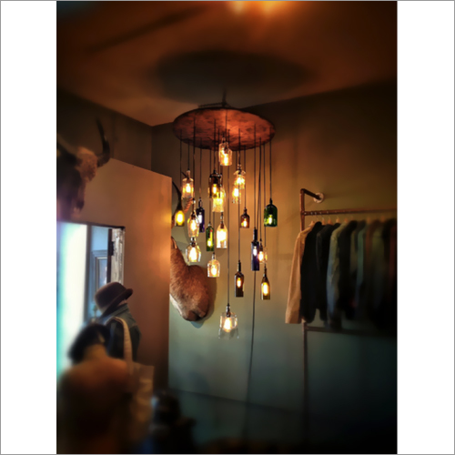 Bottle Pendant Cable Hanging System Light