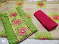 Embriodered Banarasi Dress Material