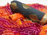 New Chanderi Cotton Dress Material