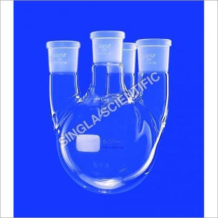 Four Neck Bottom Outlet Spherical Vessels