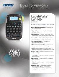 Epson Label Works LW-400 Label Printer