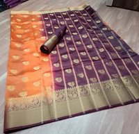 Kanchivaram Flower Jequard Butta  Fabric