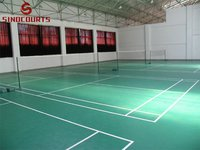 4.5mm green Litchi surface pvc sports flooring