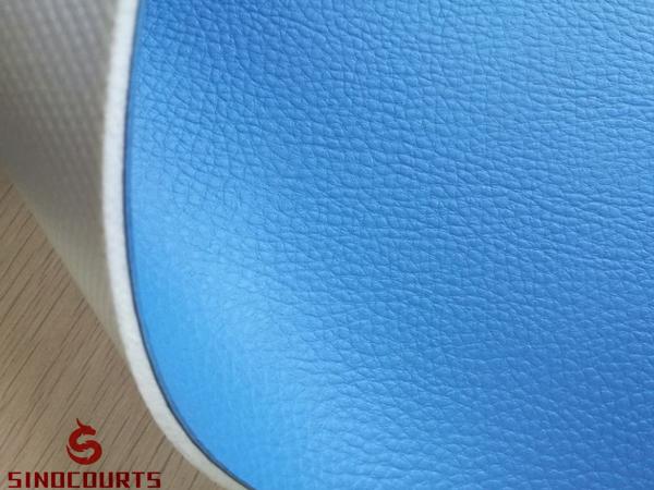 4.5mm green Litchi surface pvc sports flooring